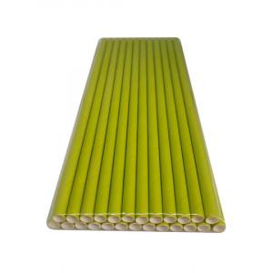 Трубочка бумажная 19,7 см (25 шт) д6 мм оливковая KN-6-197