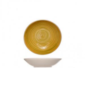 Тарелка 21 см глубокая Turbolino желтая 874388
