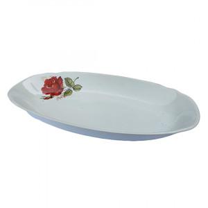 Блюдо овальное Красная роза