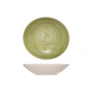 Тарелка 21 см глубокая Turbolino зеленая 803696