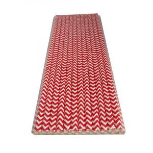 Трубочка бумажная 19,7 см (25 шт) д6 мм абстракция/красная KN-6-197