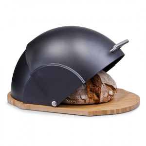 Хлебница 37*26,5*19 см бамбук, крышка пластик VC-1231