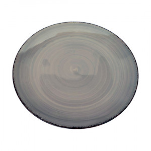 Тарелка 270 мм круглая Глазурь графит 10.5 S1839