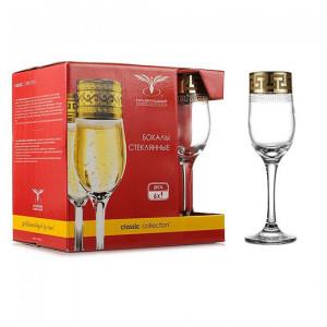 Набор бокалов для шампанского Греческий Узор 190 мл (6 шт) EAV03-160
