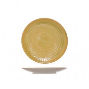 Тарелка 22 см мелкая Turbolino желтая 573785